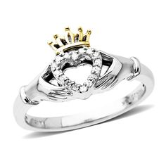 "Claddagh ring!! Reminds me of the one Angel gave to Buffy from the hit T.V. series on FX ""Buffy the Vampire Slayer"" one of my favorites!! :)"