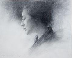 Jeremy Lipking, American artist (1975). 'In Profile' (c.2004) Graphite on Paper
