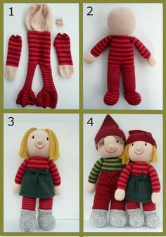 nisser   Strikkeekspert 1st Christmas, All Things Christmas, Christmas Decorations, Christmas Ornaments, Holiday Decor, Crochet Baby, Knit Crochet, Ann Louise, Christmas Knitting