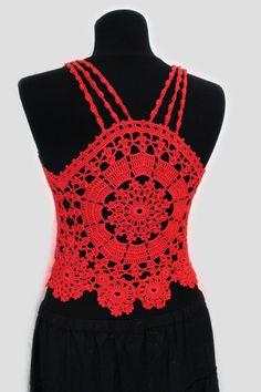 Vestido de ganchillo superior ganchillo top por wwwikacrochet