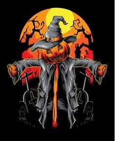 Scarecrow Drawing, Halloween Costumes Scarecrow, Halloween Scarecrow, Halloween Painting, Halloween Pictures, Halloween Art, Vintage Halloween, Halloween Mermaid, Halloween Vector