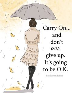 Carry on I will but I'm not so certain that everything is going to be ok.. :'(