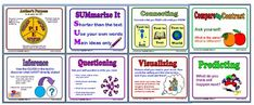 Classroom Freebies: 8 Colorful Reading Strategy Posters
