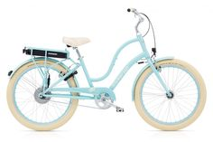 Townie GO! - L - Sky Blue - 100003 - Sky Blue.  Lord help me, I already own TWO Electra Townie Bikes, Rosie, and Hawaiian Hibiscus...but this one has a motor!  I might need three bikes in the basement.