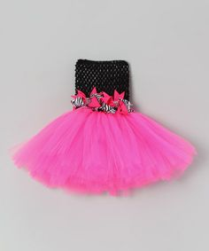 Take a look at this Pink Zebra Bow Tutu Dress - Infant, Toddler & Girls by Bride and Babies on #zulily today!