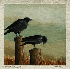 Black bird painting, Raven painting, Crow painting, Bird artwork, Original bird art, 6x6 inch acrylic painting, Art within an 11x14 mount Crow Painting, Winter Painting, Pallet Painting, Small Paintings, Seascape Paintings, Original Art, Original Paintings, Acrylic Painting Inspiration, Bird Artwork