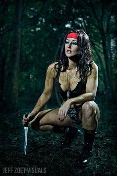 Lyndsay Lewis as Rambo #cosplay | Photography: Jeff Zoet Visuals. www.facebook.com/hotngeeky