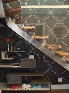 Integração é o ponto chave. Veja o restante dessa casa: http://www.casadevalentina.com.br/projetos/detalhes/para-receber-os-amigos-616 #decor #decoracao #interior #design #casa #home #house #idea #ideia #detalhes #details #style #estilo #casadevalentina