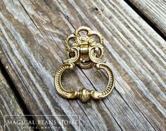 Items Similar To Kbc Gold Ring Pull French Vintage Dresser Drawer Br Handle Country Baroque Decorative Cabinet Pulls