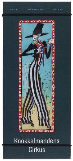 """Knokkelmandens Cirkus"" Oscar K. Baseball Cards, Illustration, Art, Art Background, Kunst, Illustrations, Performing Arts, Art Education Resources, Artworks"