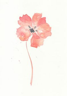 Flower flower print art giclee watercolor watercolor by ChiFungW, $16.00