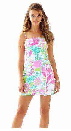 7b9dcb5d9f42 Lilly pulitzer women s jesse romper dress flamingo pink don t give a cluck  sz 2