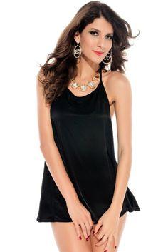 Jennifer Tassel Woven Camisole Black