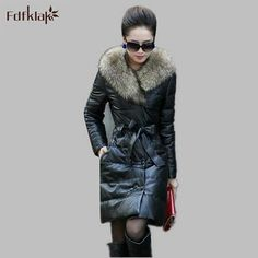 2016 Winter Down Jacket Women Down Parkas Long Thick Winter Floral ...