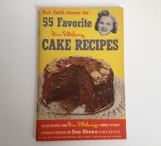 Ann Pillsbury Cookbook Cake Recipes 1952 First Edition Baking Cook Book Kate Smith Sno Sheen Flour by aroundtheclock on Etsy