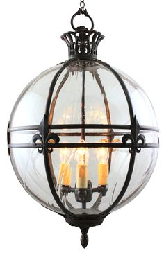 ae2a51c9414 Victorian globe lantern by Kansa Lighting. Product Code - GLOBE22. Features  fleur de lys
