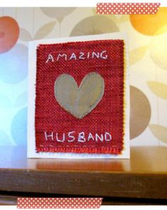 Happy Valentines Day – DIY a stitched card for your Valentine, 2014 DIY Valentines Day card #2014 #Valentines #day #sign www.loveitsomuch.com