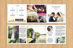 Wedding Photography Brochure Template  Square by TemplateStock