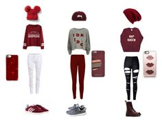 """""""my three moods in one color"""" by emma-134p ❤ liked on Polyvore featuring Wildfox, WithChic, WearAll, adidas, Dr. Martens, Halogen, Gap, Stussy, Casetify and MICHAEL Michael Kors"""