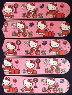 "Hello Kitty Sweet Dreams 52"""" Ceiling Fan Blades Only"