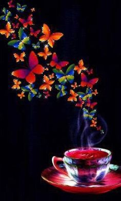 # Colourful Butterflies & Coffee
