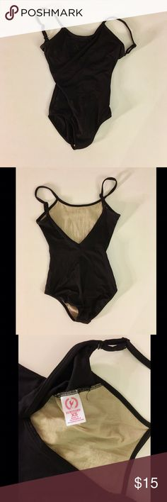 Eurotard Adult Adjustable Camisole Leotard - XS Eurotard Adult Adjustable Camisole Leotard - Size XS - Black leotard - straps can be converted from a camisole tank style to a cross cross back - in good condition eurotard Other