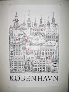 this poster of all the spires in denmark. must find this!