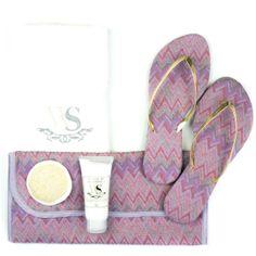 kit escalda pés para madrinhas em tecido Missoni Inspired Rachiand Orchid - a cor eleita pela Pantone como a cor do ano!