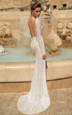 galia lahav 2015 bridal veneto long sleeve wedding dress back view
