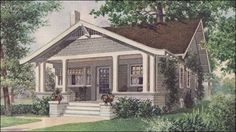 1912 Ladies Home Journal Bungalow - Ladies Home Journal was instrumental as one of the major propagandists in the bungalow mania of the early century. Issues from 1905 to 1920 (more or less) had many articles on bungalows and small house living.