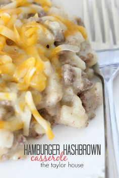 Delicious and Simple Cheese and Hashbrown Hamburger Casserole Recipe!