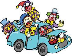 GOP Clown car in a lunatic amusement park