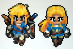 Been quite awhile since I've made anything with beads, but with the past two months being filled some pretty hefty gaming (Resident Evil Yakuza Ni. Breath of the Wild Link and Zelda Perler Beads Perler Beads, Perler Bead Art, Fuse Beads, Melty Bead Patterns, Perler Patterns, Beading Patterns, Pixel Art Objet, Image Pixel Art, Nerd Crafts