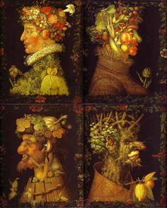 73 x Óleo sobre lienzo. Giuseppe Arcimboldo, Optical Illusion Paintings, Photo Images, Italian Painters, Fantastic Art, Aesthetic Art, Oeuvre D'art, Garden Art, Illusions