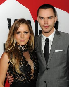 Teresa Palmer and #NicholasHoult arrive for the Los Angeles premiere of Summit Entertainment's #WarmBodies