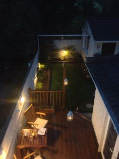 Summer night garden