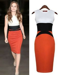 Leighton Meester Exclusive Tricolor Tube Dress