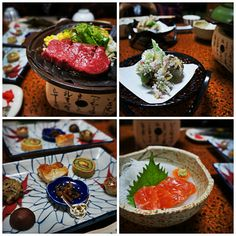 Traditional Japanese meal in rural Japan. Travel off the beaten path and stay at traditional Japanese inns.