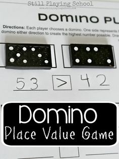 Dominoes Place Value Game for Kids - super simple!