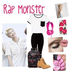 """""""In the studio with Rap Monster"""" by sonorasexton on Polyvore featuring New Look, Vans, WithChic, Soda and Sonix"""