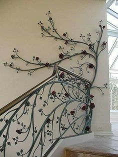 - Stairway Designs & Ideas - Свадебный салон в Грозном Wedding Salon in Grozny. Wrought Iron Stair Railing, Stair Railing Design, Iron Staircase, Wrought Iron Decor, Staircase Railings, Stairways, Banisters, Grill Design, Iron Work