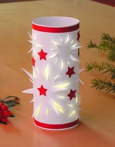 Paper crafts – Free tutorials in the buttinette craft shop - All About Decoration Homemade Christmas Decorations, Christmas Ornaments To Make, Noel Christmas, Christmas Crafts For Kids, Xmas Crafts, Simple Christmas, Handmade Christmas, Diy And Crafts, Paper Crafts