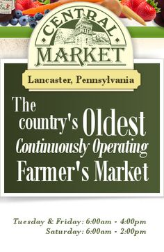 Lancaster Central Market - The Country's OLDEST Continuously Operating Farmer's Market!