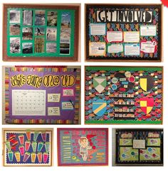 "Cool RA bulletin board ideas.. I love get involved one but would change it to ""What have you done lately? Here are suggestions on how to get involved""  I like the smoothie one, too."