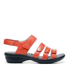 Propet Women's Aurora Narrow/Medium/Wide Sandals (Coral Leather) - 8.5 D