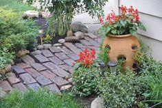 old bricks pathway Brick Pathway, Old Bricks, Pathways, Yards, Sidewalk, Patio, Dreams, Creative, Outdoor Decor