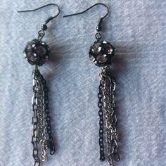 Disco ball earrings $10