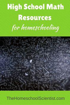 High School Math Resources For Homeschooling