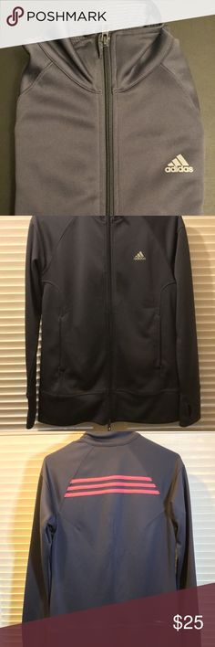 429bc6c295dd3 Adidas Clima365 Womens Track Jacket Charcoal Adidas Clima365 Womens Track  Jacket Charcoal with 3 Salmon colored
