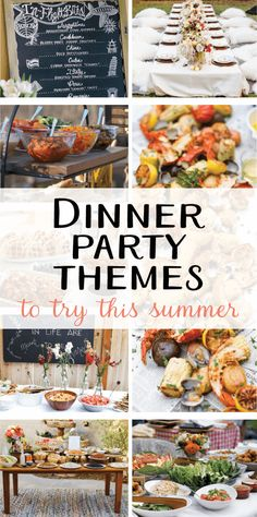 9 creative dinner party themes you'll be exploring this summer .- 9 creative dinner party topics you should try this summer – Dinner party 2017 – Summer Dinner Party Menu, Outdoor Dinner Parties, Dinner Club, Dinner Menu, Party Summer, Supper Club, Dinner Party Meals, Summer Picnic, Easy Dinner Party Recipes